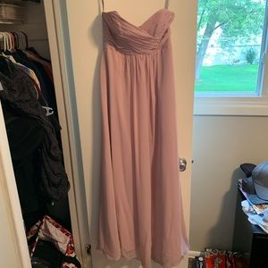 Signature Alfred Angelo strapless bridesmaid dress
